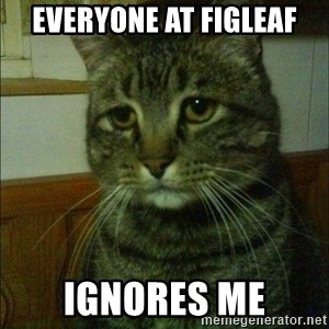Depressed cat 2 - Everyone at figleaf ignores me