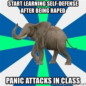 PTSD Elephant - Start learning self-defense after being raped Panic attacks in class