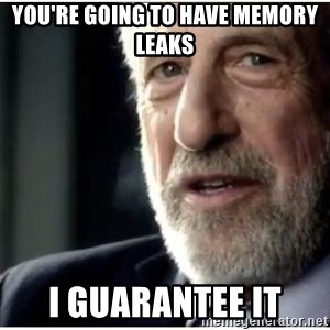 mens wearhouse - YOU'RE GOING TO HAVE MEMORY LEAKS I GUARANTEE IT