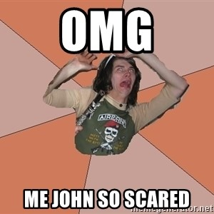 Scared Bekett - Omg Me john so scared