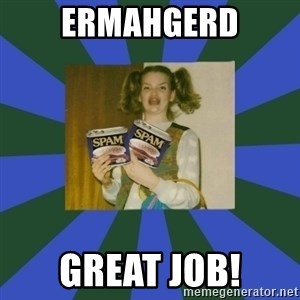 ERMAGERD STOOLS  - ermahgerd great job!