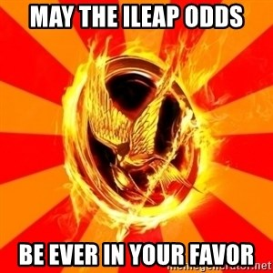 Typical fan of the hunger games - may the ileap odds be ever in your favor