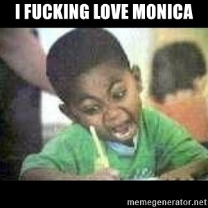 Black kid coloring - I fucking love Monica