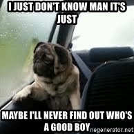 introspective pug - i just don't know man it's just maybe i'll never find out who's a good boy