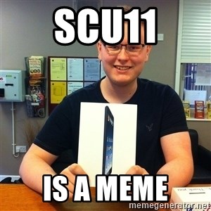 Enthusiastic Apple NERD haha - scu11 is a meme