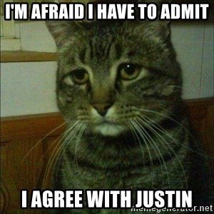Depressed cat 2 - I'm afraid I have to admit I agree with justin