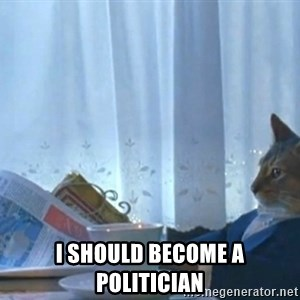 Sophisticated Cat -  I SHOULD BECOME A POLITICIAN