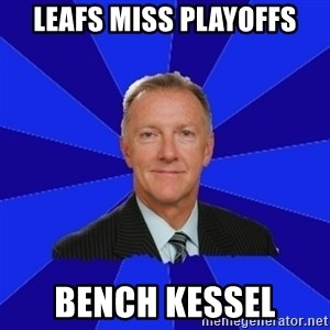 Ron Wilson/Leafs Memes - Leafs miss playoffs bench kessel