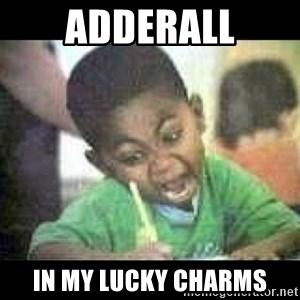 Black kid coloring - adderall in my lucky charms