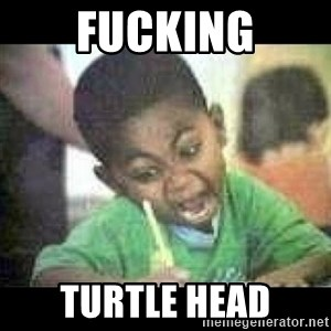 Black kid coloring - fucking turtle head