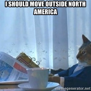 Sophisticated Cat - I should move outside north america