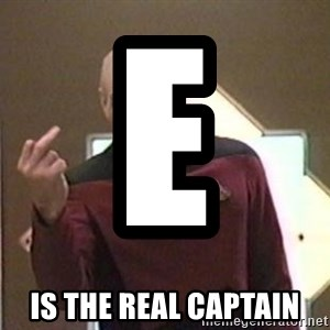 Picard Finger - E                      Is the Real Captain