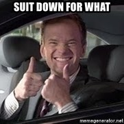 Barney Stinson - Suit down for what