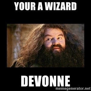 You're a Wizard Harry - Your a wizard Devonne