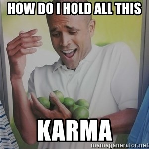 Limes Guy - how do i hold all this  karma