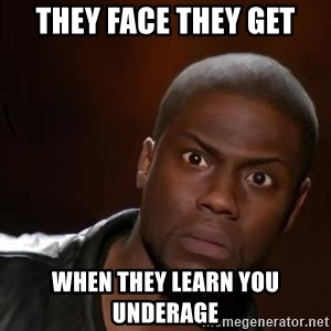 kevin hart nigga - they face they get when they learn you underage