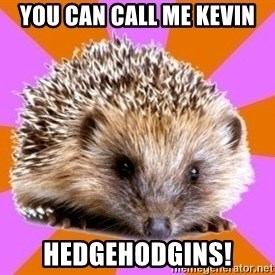 Homeschooled Hedgehog - You Can Call Me Kevin HEDGEHODGINS!