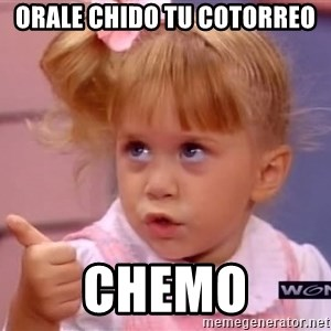 thumbs up - orale chido tu cotorreo chemo