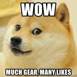 wow such doge1 - WOW MUCH GEAR, MANY LIKES
