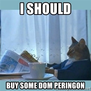 rich cat  - I should Buy some Dom PEringon
