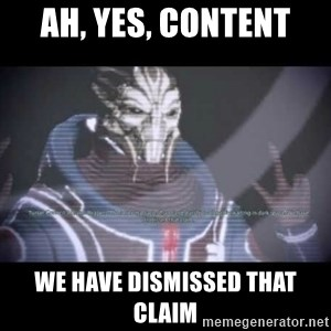 Ah, Yes, Reapers - Ah, yes, content We have dismissed that claim