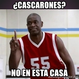 Not in my house Mutombo - ¿cascarones? No EN ESTA CASA