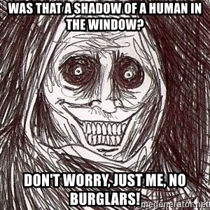 Shadowlurker - Was that a shadow of a human in the window? Don't worry, just me, no burglars!