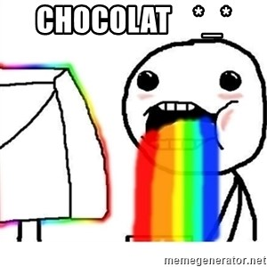 Puking Rainbows - chocolat    *_*