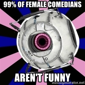 """Did you know"" Fun Fact sphere  - 99% of female comedians  Aren't funny"