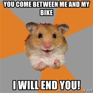 hamster seiyuulover - you come between me and my bike i will end you!