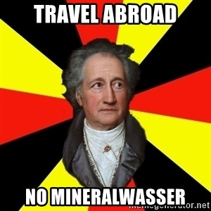 Germany pls - travel abroad no mineralwasser