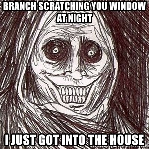 Shadowlurker - Branch scratching you window at night  I just got into the house