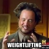 Georgio from Ancient Aliens -  weightlifting