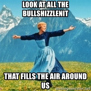 Sound Of Music Lady - Look at all the bullshizzlenit that fills the air around us