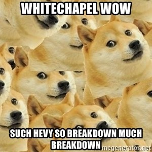so dogeee - WHITECHAPEL WOW SUCH HEVY so breakdown much breakdown