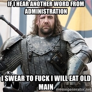 The Hound Mugshot - if I hear another word from administration i swear to fuck i will eat old main