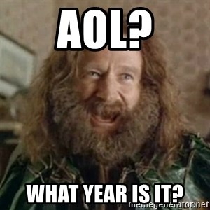 What Year - AOL? what year is it?