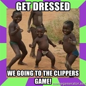 african kids dancing - Get Dressed We going to the Clippers Game!