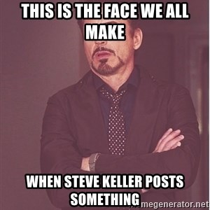 Robert Downey Junior face - This is the face we all make when steve keller posts something