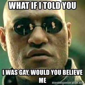 What If I Told You - What if i told you I was gay, would you believe me