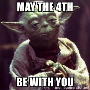yoda star wars - May the 4th Be with you