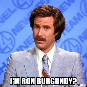 Anchorman Will Ferrell -  I'm Ron Burgundy?