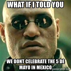 What If I Told You - What if i told you we dont celebrate the 5 de mayo in mexico
