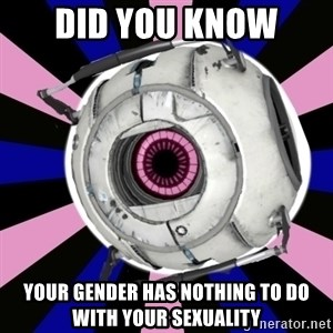 """Did you know"" Fun Fact sphere  - Did you know Your gender has nothing to do with your sexuality"