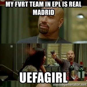 Skin Head John - my Fvrt team in epl is real madrid uefagirl