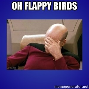 Picard facepalm  - oh flappy birds