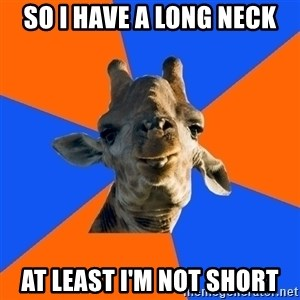 Douchebag Giraffe - so i have a long neck at least i'm not short