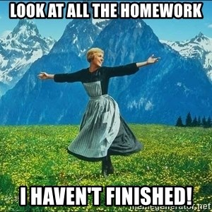 Look at all the things - Look at all the Homework I haven't finished!