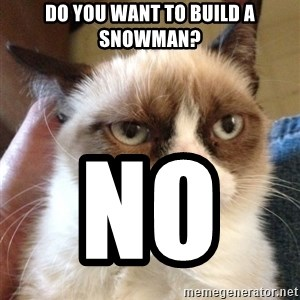 Grumpy Cat 2 - Do you want to build a Snowman? NO