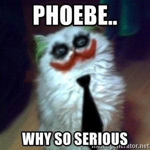 JokerCat - Phoebe.. why so serious